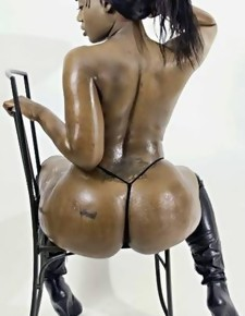 There's no emaciate white girls here, exclusively incomparable jet beauties with deliciously round booties