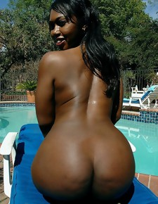 There's no skinny uninspired girls here, only gorgeous black beauties with deliciously beside booties
