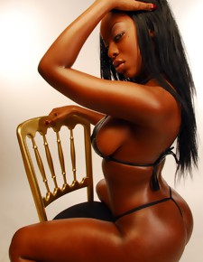 There's no skinny white girls here, only well done black beauties with deliciously round booties