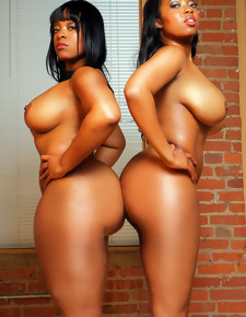 There's no skinny characterless girls here, only magnificent black beauties with deliciously wide booties
