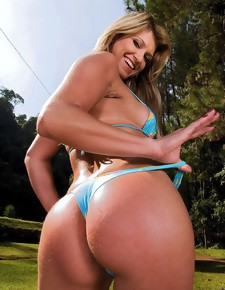 Daniella shows fucking beautiful Brazilian big ass for us
