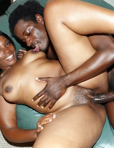 Ebony babe hot blowjob