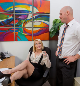 Ash Hollywood & Johnny Sins in Naughty Office - Naughty America